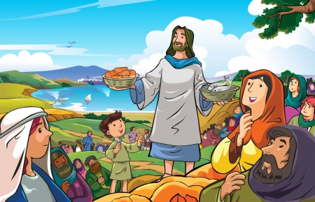 compassionate:  Jesus the merciful and compassionate who were distributing food to his people