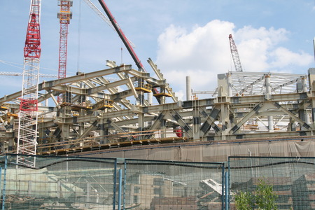 steelwork: Metal constructions for stadium
