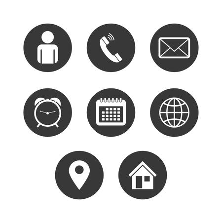 Vector de conjunto de iconos de contacto