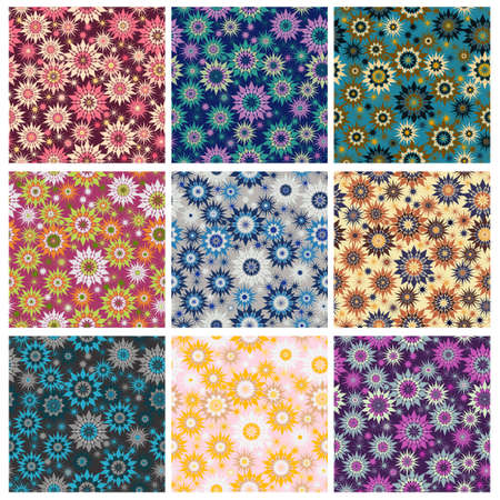 Star kaleidoscope seamless pattern with modern colour combinations. Modern geometric, minimalist, suitable for wallpapers, fabric pattern, banners, backgrounds, cards, book illustrations etc.
