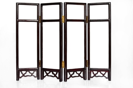 Oriental Folding Screen isolated for creative image montage Stock Photo - 14920993
