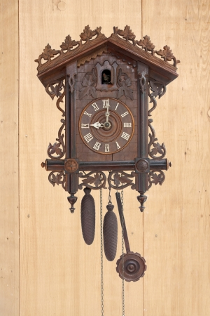 Antique cuckoo clock,  made in 1798  photo