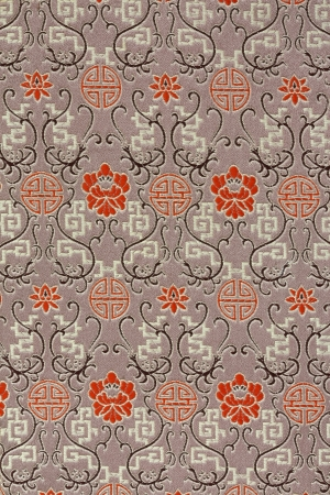 Oriental Silk Fabric Pattern photo