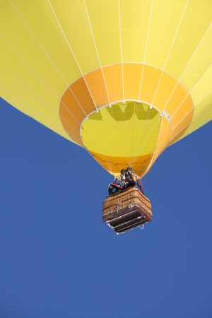 Hot Air Balloons in Flight with space for text in lower part photo