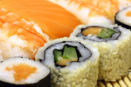 Sushi Assorted pieces - macro studio shooting Stock Photo - 15946097