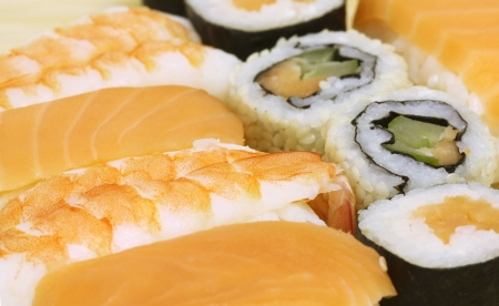 Sushi Assortment - macro studio shooting Stock Photo - 15946096