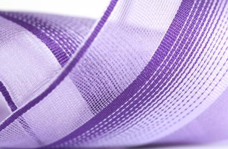 Macro shot of a purple ribbon Stock Photo