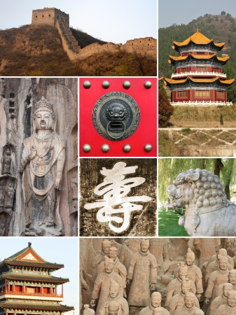Landmark collage of China photo