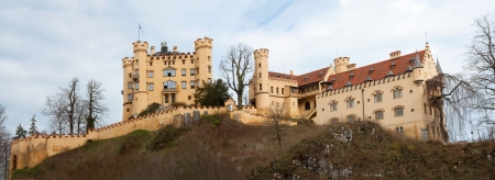 ludwig: Panorama of Hochschwangau Castle, Germany