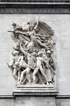 Sculpture on the Arch of Triumph, Paris, France