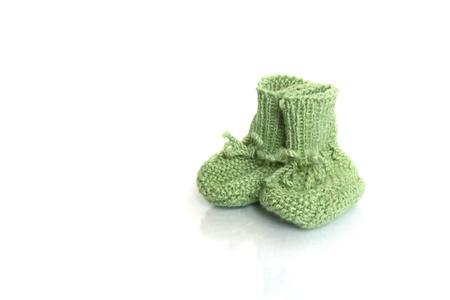 Woolen Baby Socks on white