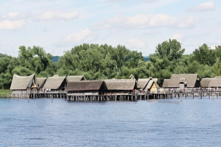 lake dwelling: Prehistory Lake Dwellings Unteruhldingen on the lake of Constance, Germany