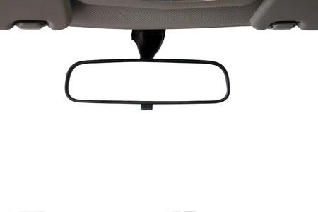 자동차 후면보기 거울 창조적 인 풍경 몽타주에 대한 격리 스톡 콘텐츠