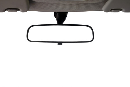 rear wheel: Car Rear view mirror isolated for creative landscape montage