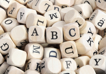 Wood letter blocks with focus on  ABC