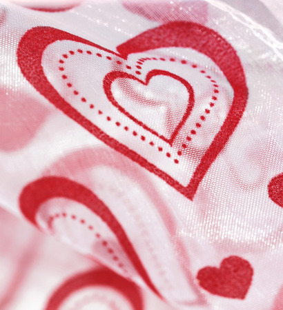 Heart shapes on a textile