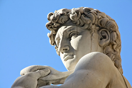 nudist: Michelangelos David statue in Florence, Italy