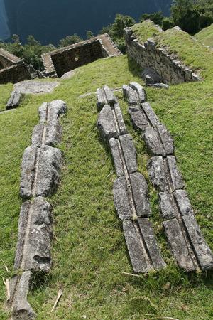 dwelling: Watering system in the ancient Inca dwelling, Machu Picchu, Peru