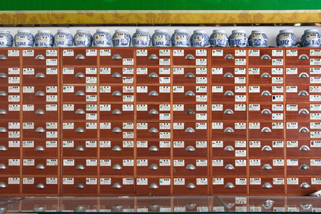 cabinet: Traditional Chinese medicine cabinet