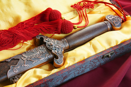 Chinees zwaard voor geschiktheid dansen Stockfoto