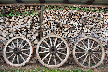 Wood wheels and wood piles