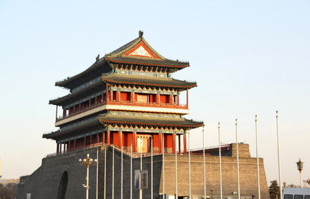 Zhengyang Gate in the center of Beijing China Editorial