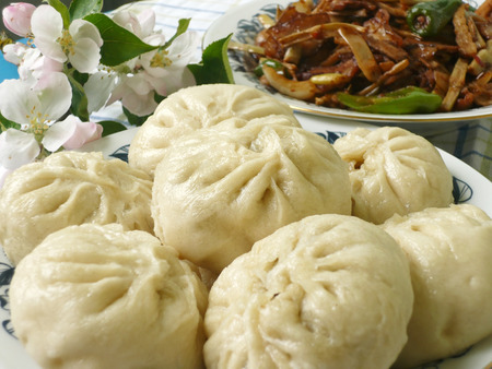 Chinese food specialty - dumpling with filling