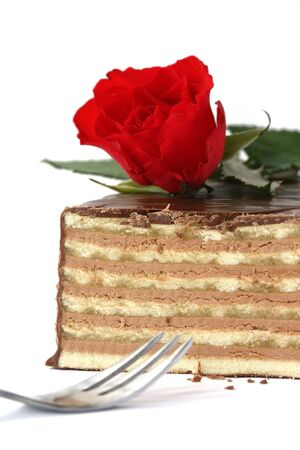 swiss cake specialty - Pralidor - Chocolated coated layers with vanilla cream and marzipan