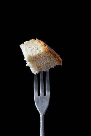 Food on Fondue Fork Series: bread