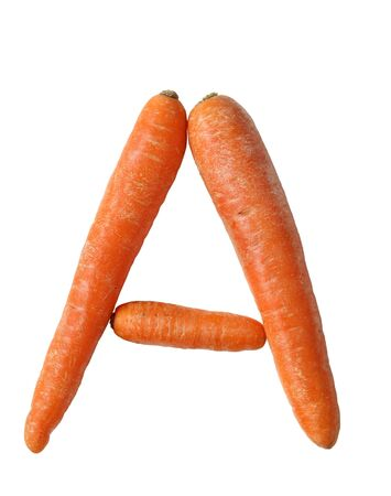 Food Alphabet: A (because carrots are rich in vitamin A)