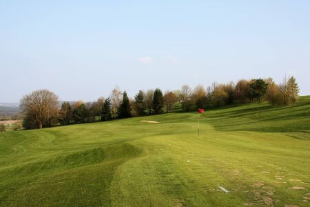 Golf playing ground at suburb area