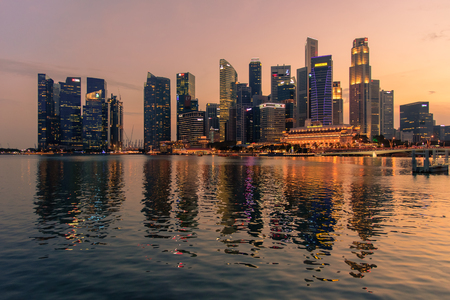 Singapore skyline scenery