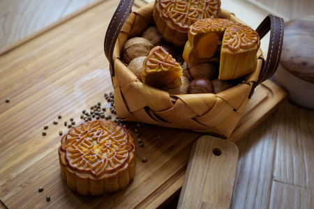 Mid autumn moon cakes and nuts