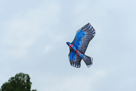 An eagle kite flying in the sky