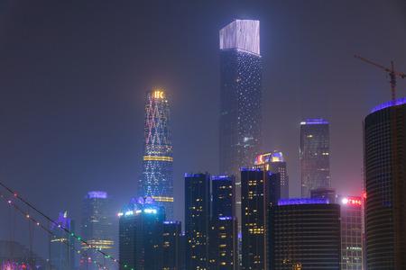 Guangzhou CBD night view