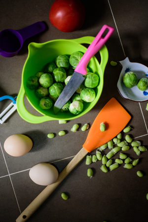 vegetable and kitchen tools