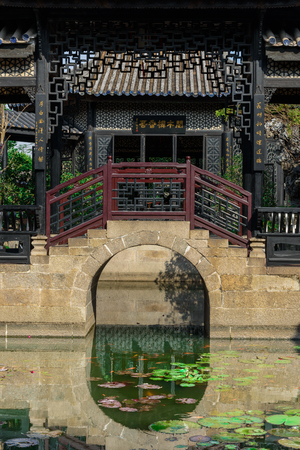 ancient building with bridge scenery Editorial