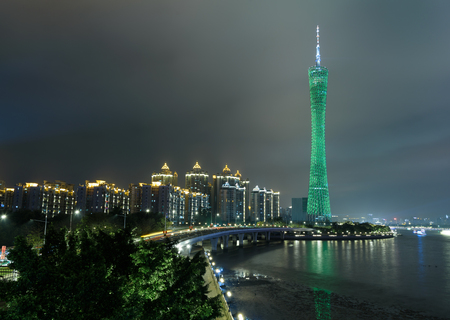 The Canton Tower night view 写真素材