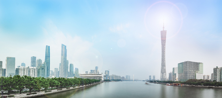 The Canton Tower and the Pearl River Metro