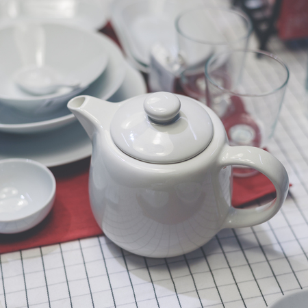 Teapot and various containers