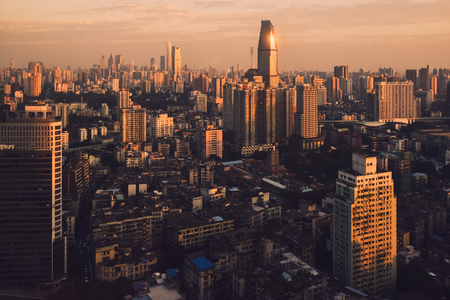Guangzhou citscape in the evening