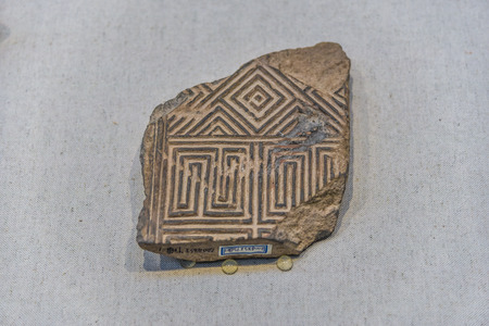 ancient chinese eaves tile piece