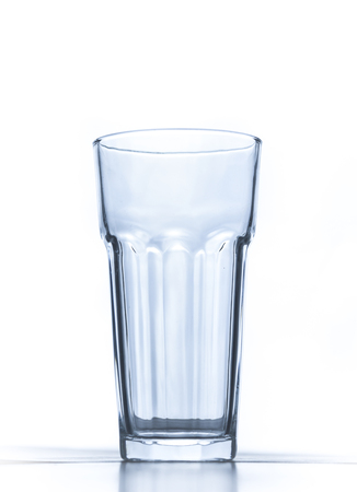 A glass on white background 版權商用圖片