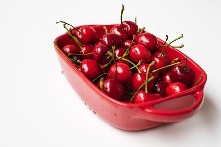 A bowl of cherries 写真素材