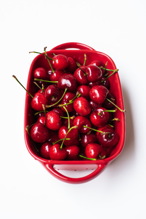 A bowl of cherries 版權商用圖片