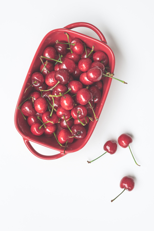 A bowl of cherries 写真素材