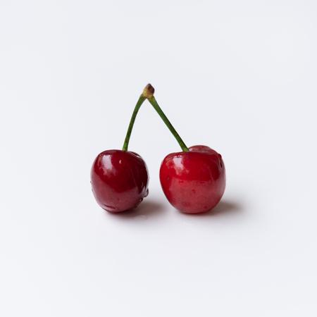 Two cherries Archivio Fotografico