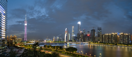 Panoramic view of Guangzhou City Center 写真素材 - 104816350