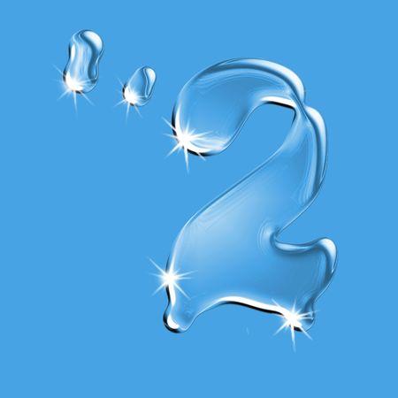 Beautiful blue water  figure 2 digit symbol Stock Photo - 2876403