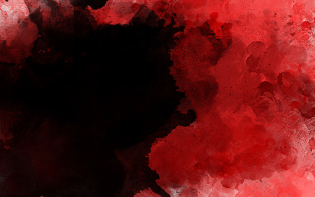brush stroke with ink splash over red textured background. Idea of mess,oriental, paint, Japanese, stain, calligraphy, Chinese, graphic concept wallpaper template